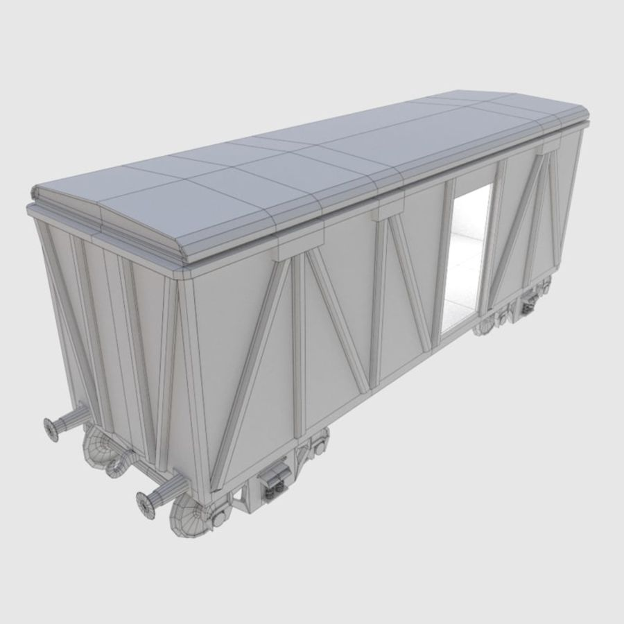 Cargo Train Wagon royalty-free 3d model - Preview no. 2