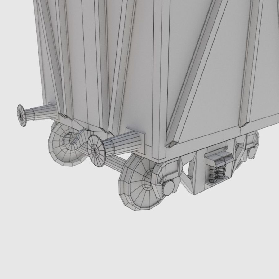 Cargo Train Wagon royalty-free 3d model - Preview no. 6