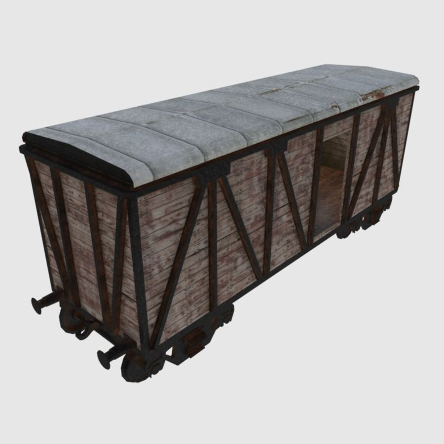 Cargo Train Wagon royalty-free 3d model - Preview no. 1
