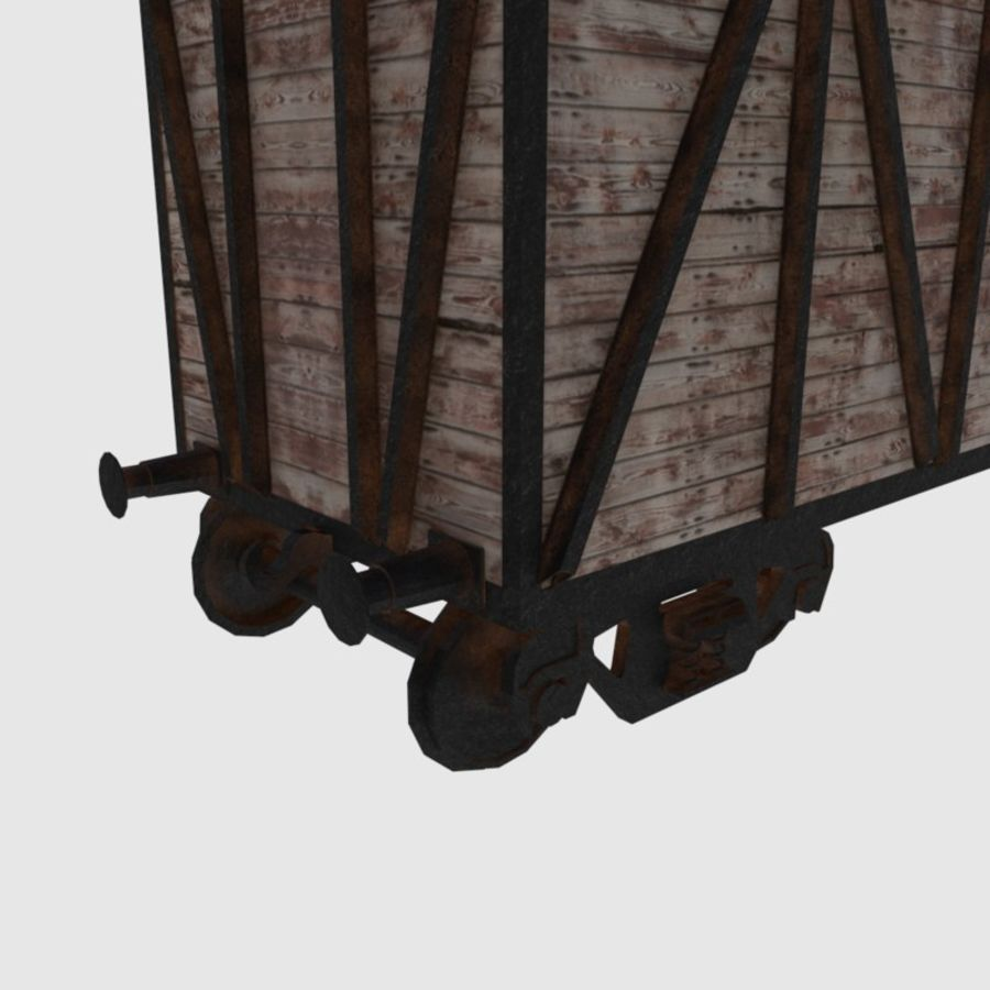 Cargo Train Wagon royalty-free 3d model - Preview no. 5