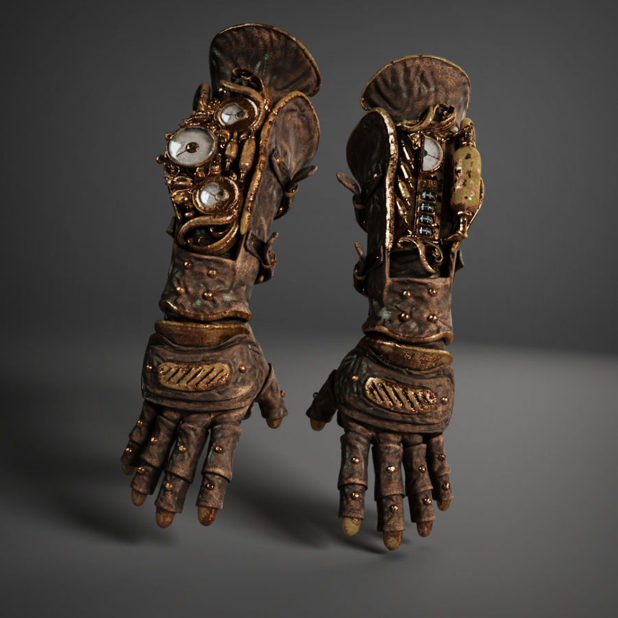 gloves royalty-free 3d model - Preview no. 5