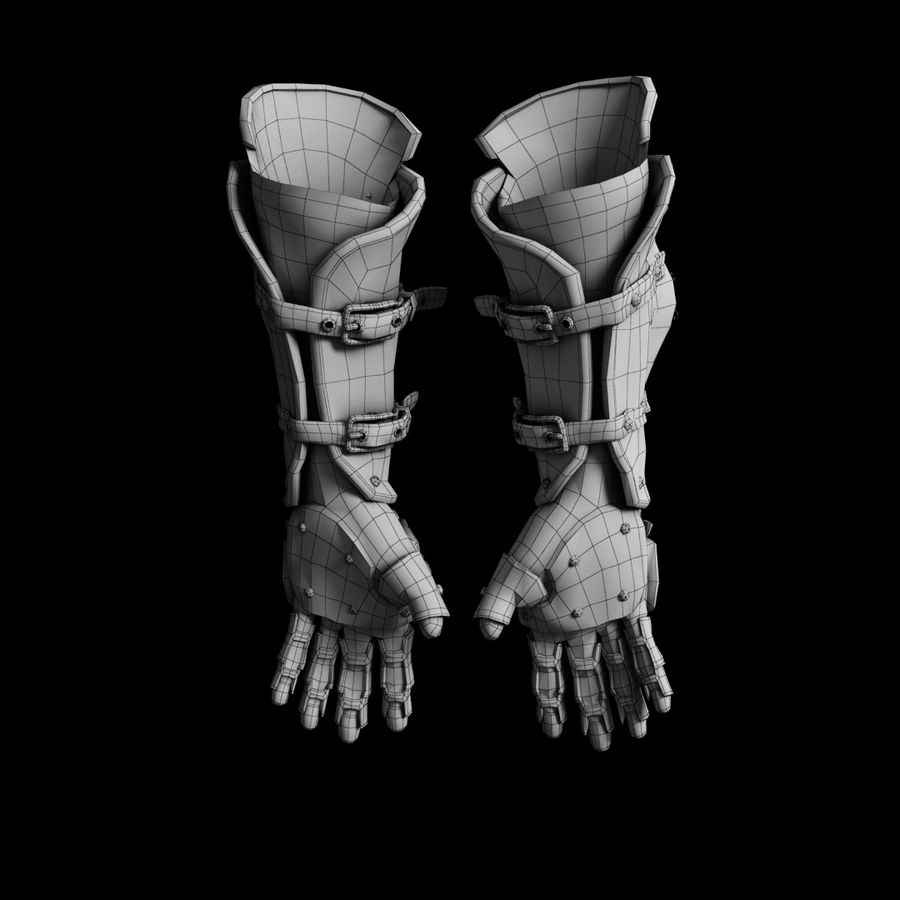 gloves royalty-free 3d model - Preview no. 3