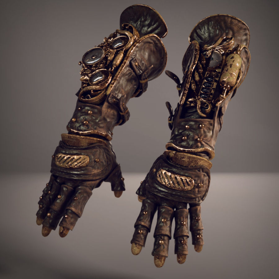 gloves royalty-free 3d model - Preview no. 1