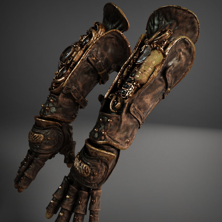 gloves royalty-free 3d model - Preview no. 8