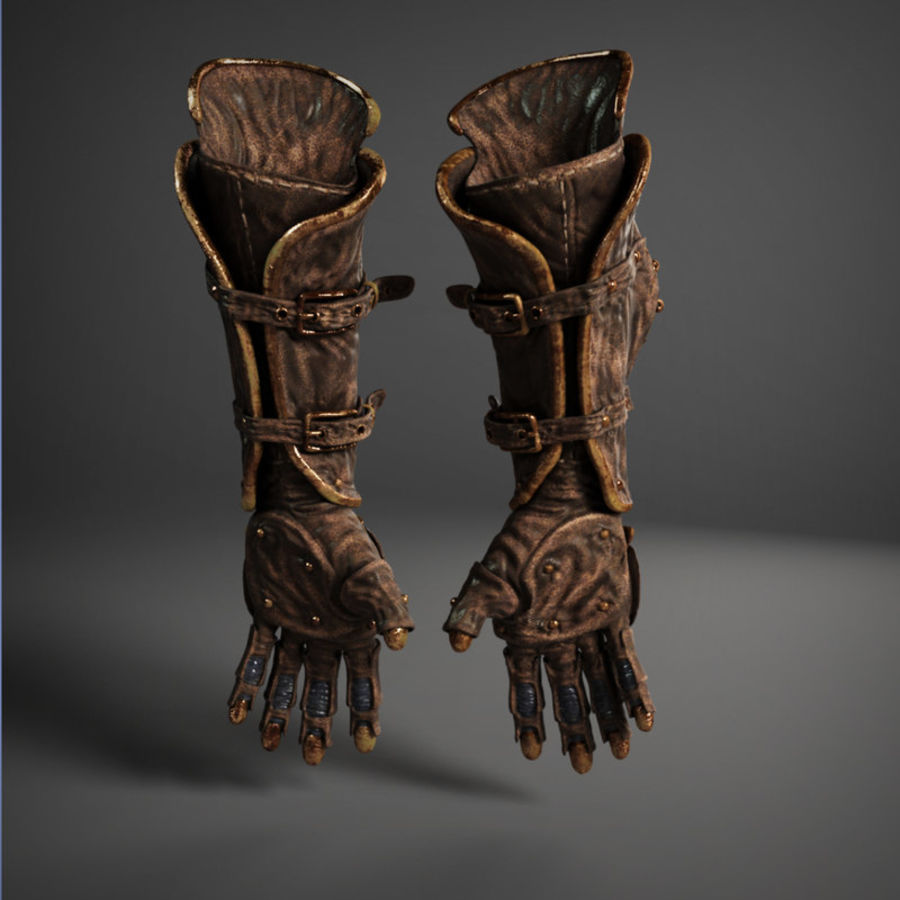 gloves royalty-free 3d model - Preview no. 7