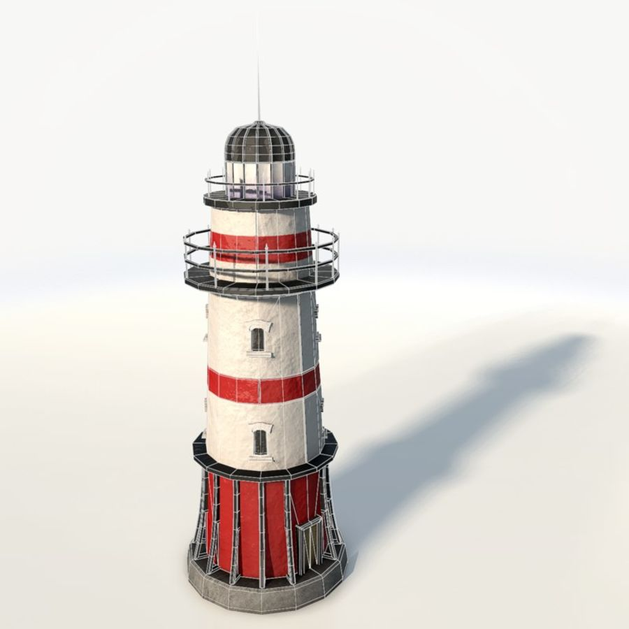 Lighthouse low poly royalty-free 3d model - Preview no. 5
