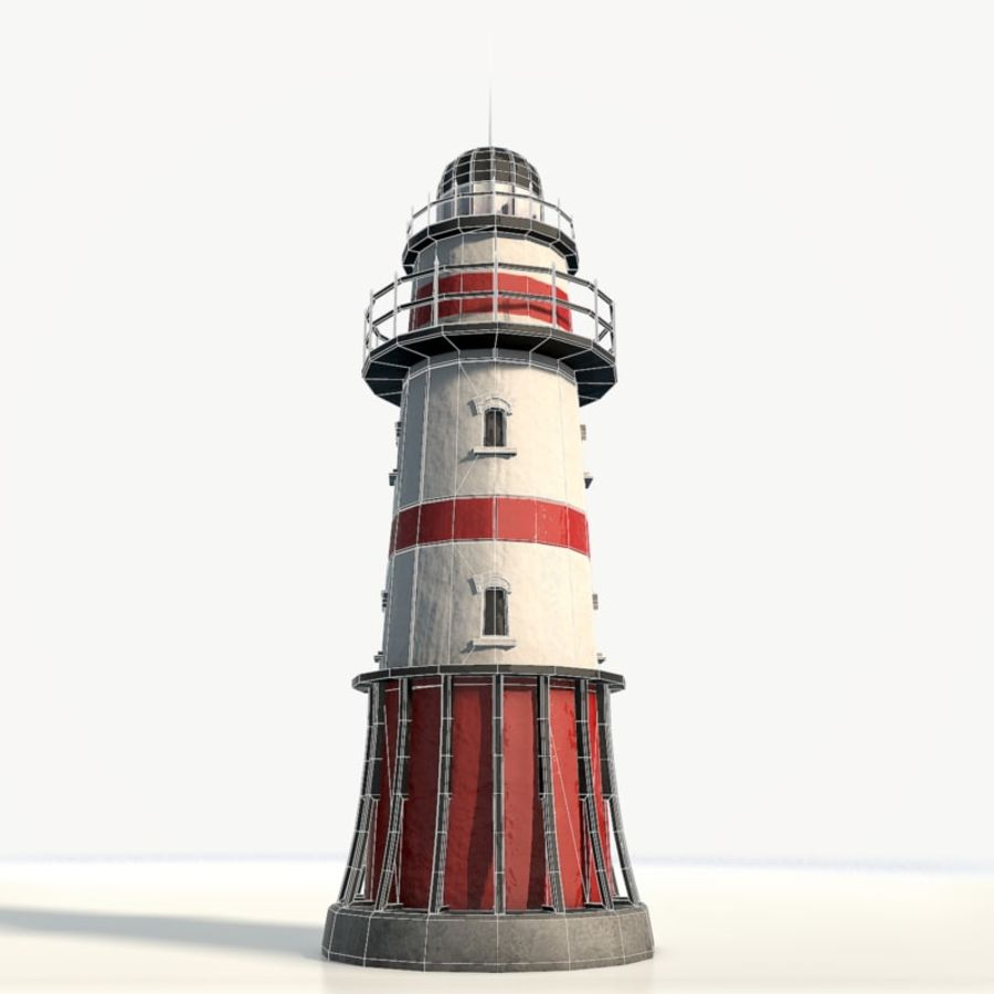 Lighthouse low poly royalty-free 3d model - Preview no. 9