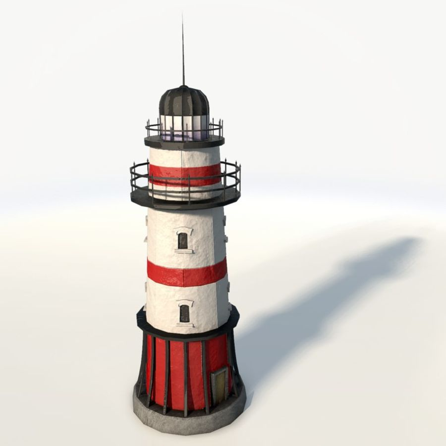 Lighthouse low poly royalty-free 3d model - Preview no. 4