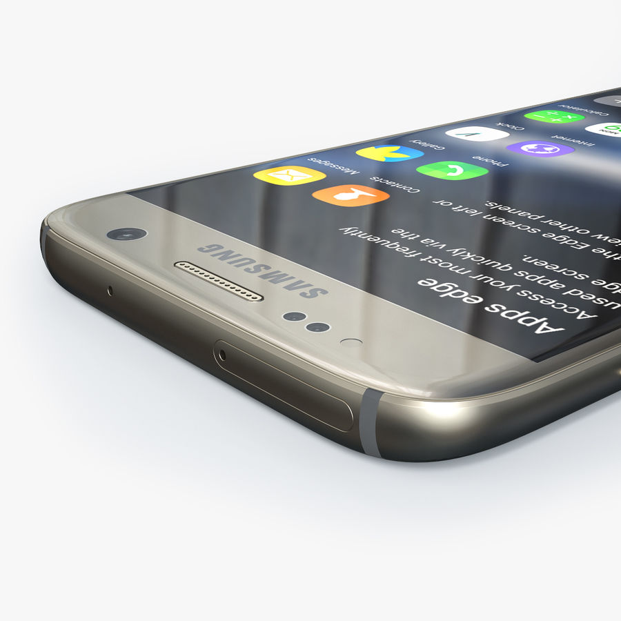 Samsung Galaxy S7 royalty-free 3d model - Preview no. 4