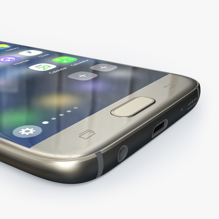 Samsung Galaxy S7 royalty-free 3d model - Preview no. 3