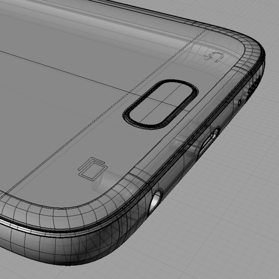 Samsung Galaxy S7 royalty-free 3d model - Preview no. 15