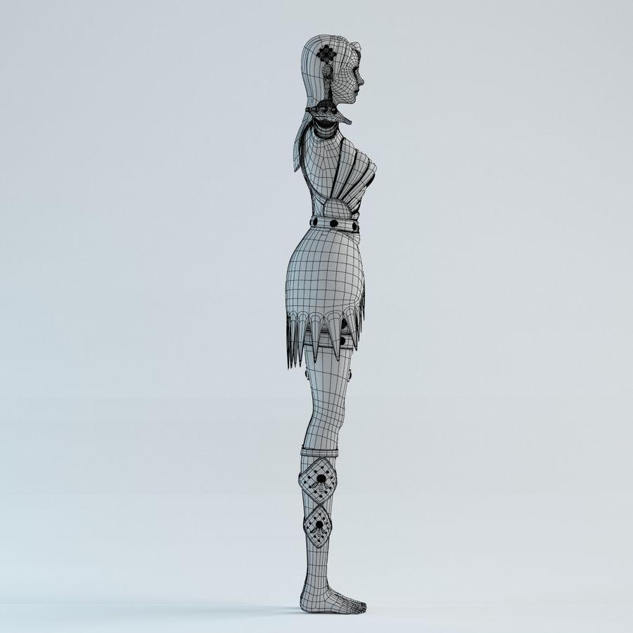modelo de mulher royalty-free 3d model - Preview no. 14