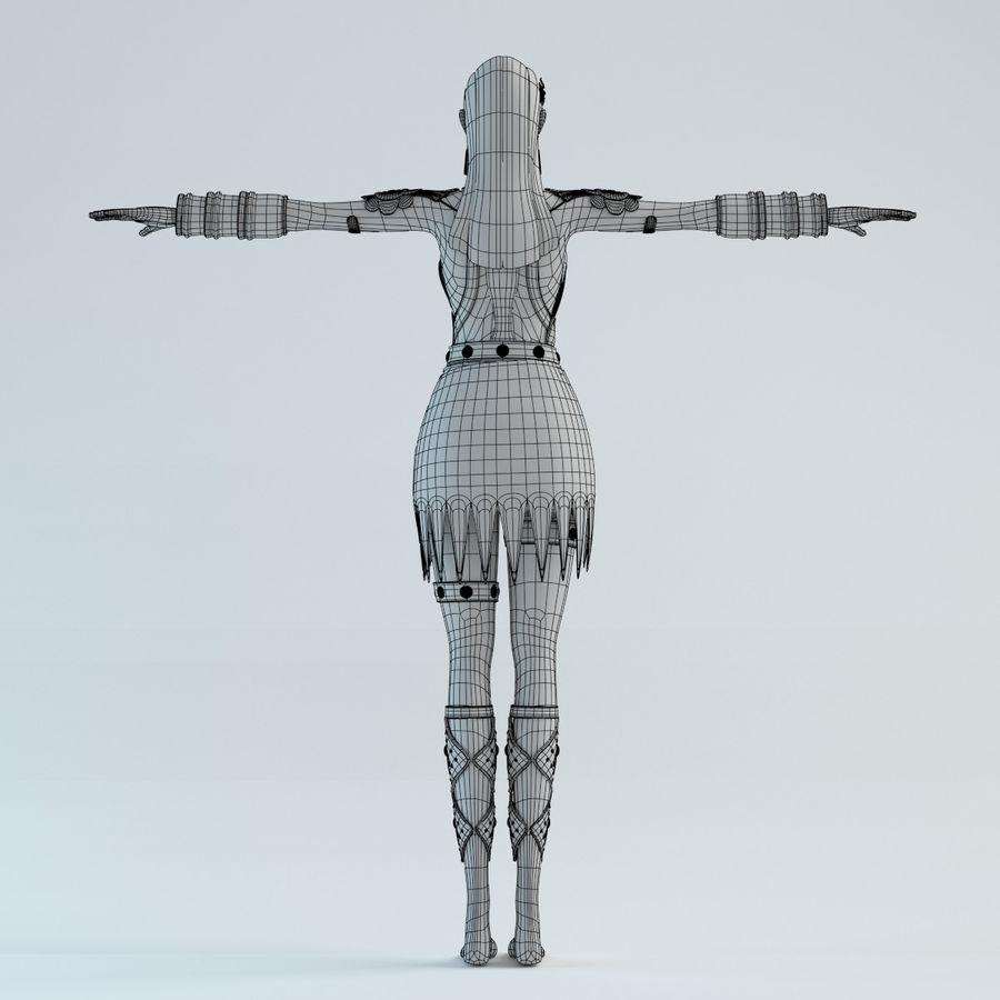 modelo de mulher royalty-free 3d model - Preview no. 12