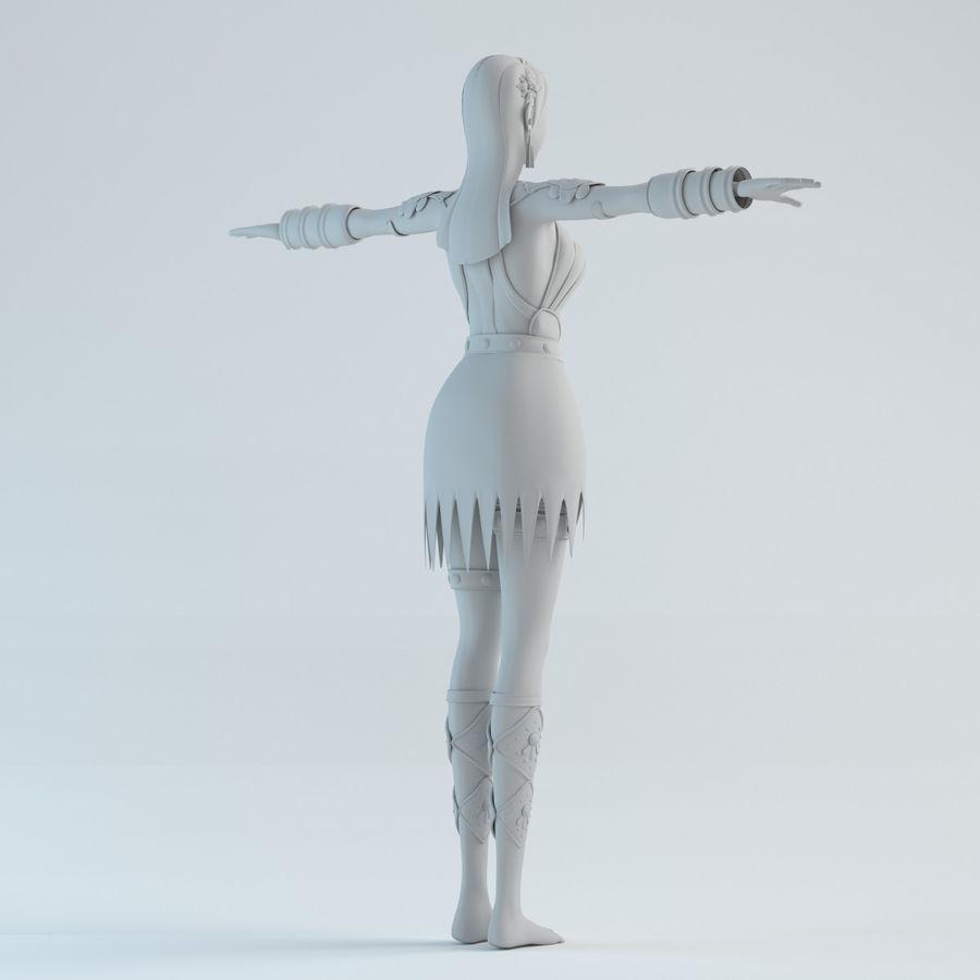 modelo de mulher royalty-free 3d model - Preview no. 6