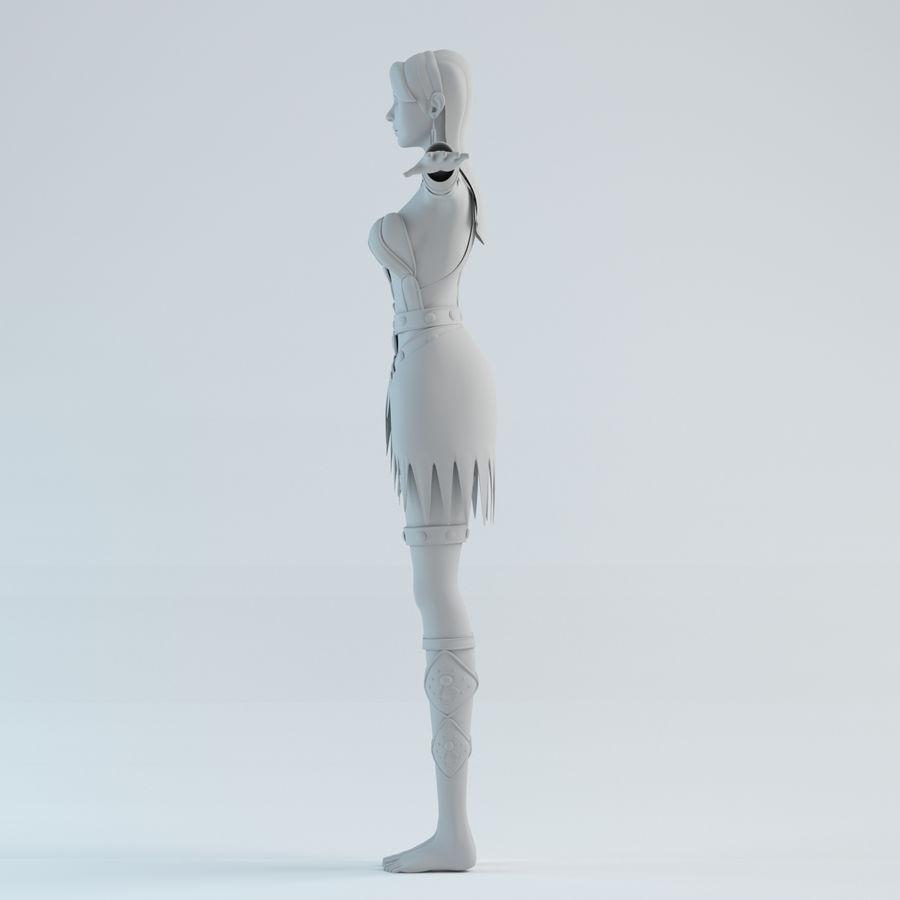 modelo de mulher royalty-free 3d model - Preview no. 3