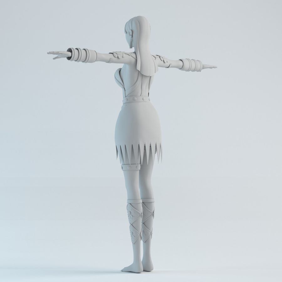 modelo de mulher royalty-free 3d model - Preview no. 4