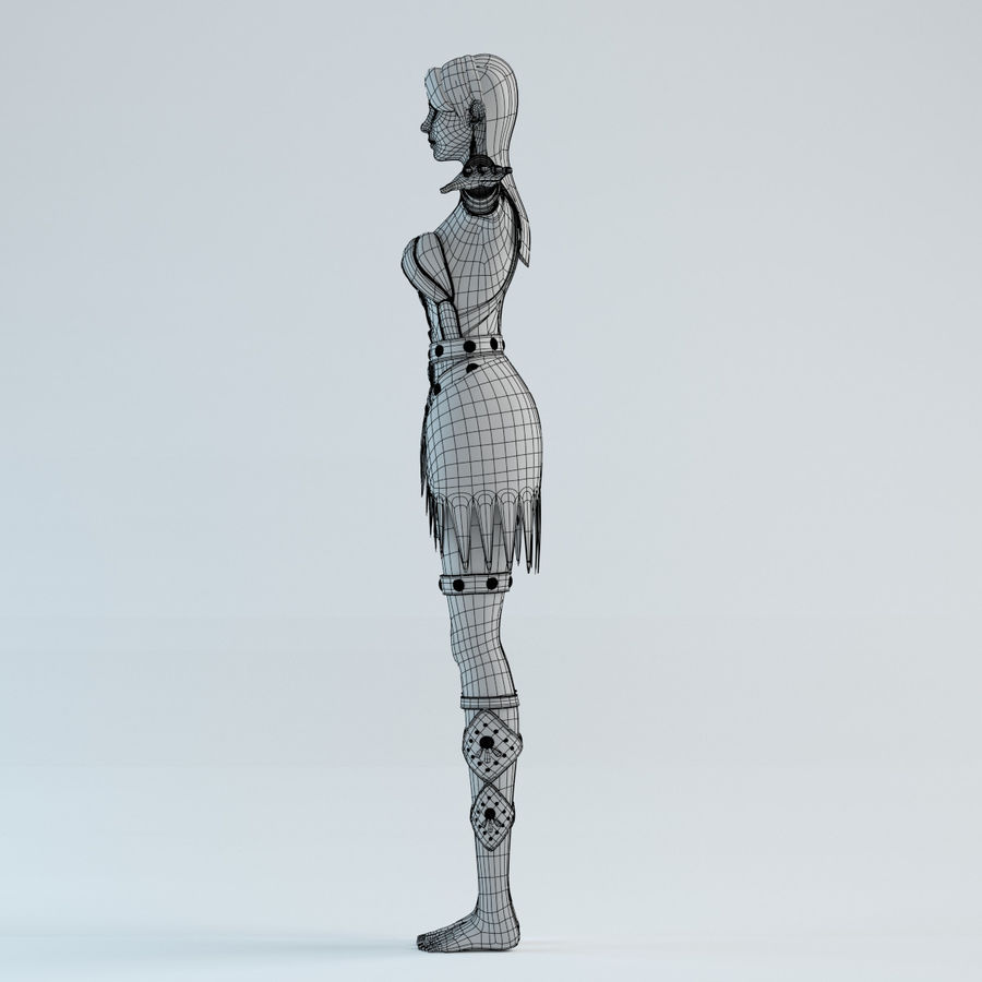 modelo de mulher royalty-free 3d model - Preview no. 10