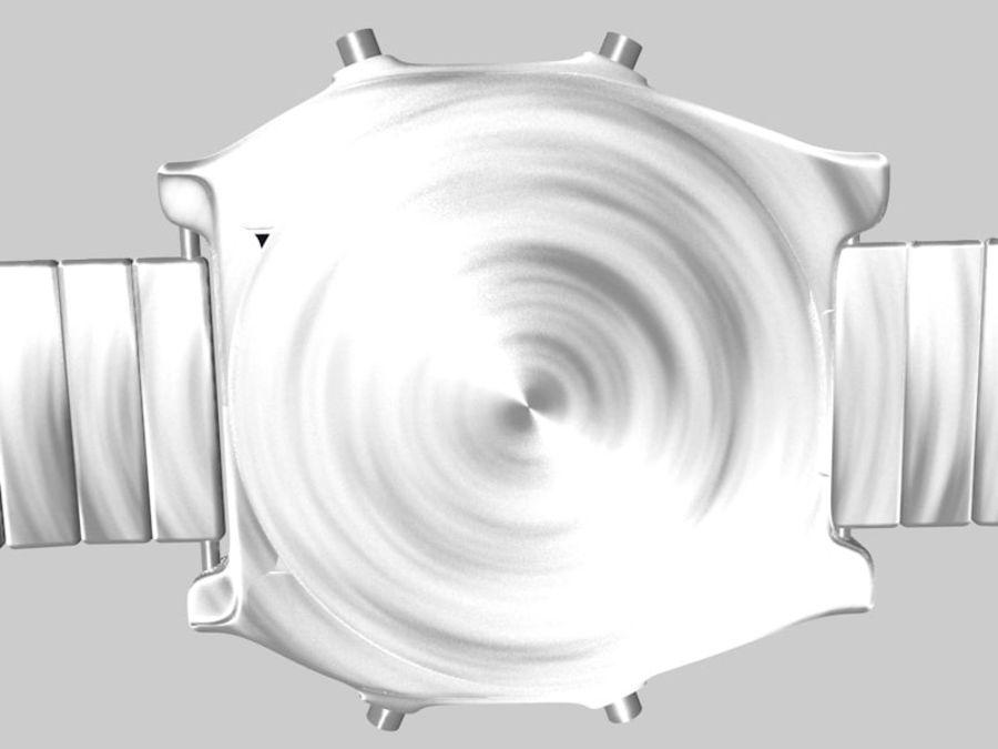 viejo reloj electrónico royalty-free modelo 3d - Preview no. 4