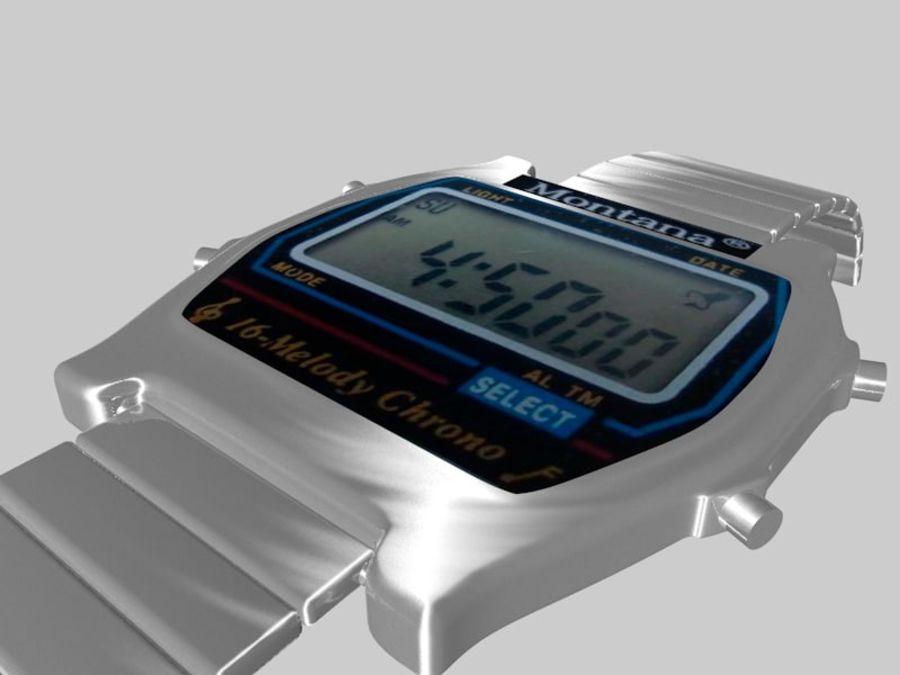 viejo reloj electrónico royalty-free modelo 3d - Preview no. 2