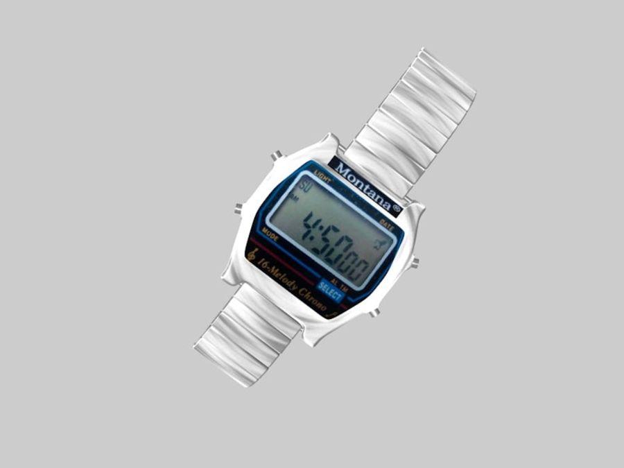viejo reloj electrónico royalty-free modelo 3d - Preview no. 1