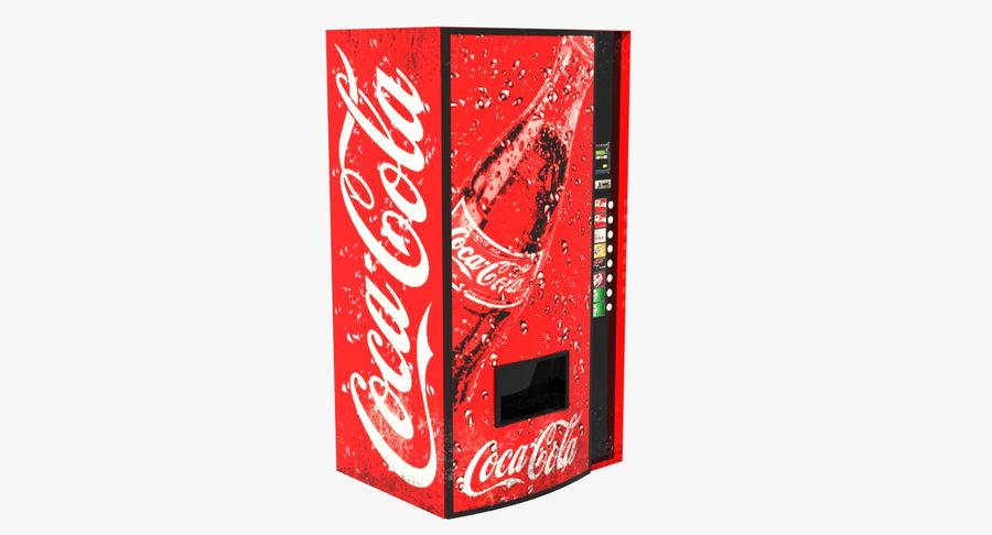 Distributore automatico di Cola Low Poly royalty-free 3d model - Preview no. 1