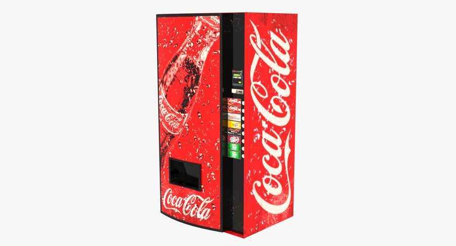 Distributore automatico di Cola Low Poly royalty-free 3d model - Preview no. 2
