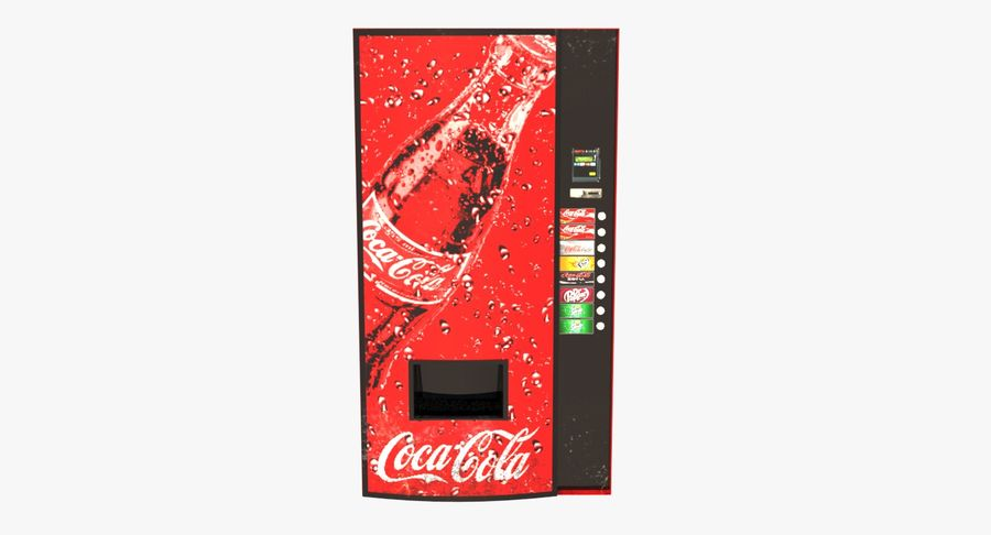 Distributore automatico di Cola Low Poly royalty-free 3d model - Preview no. 3