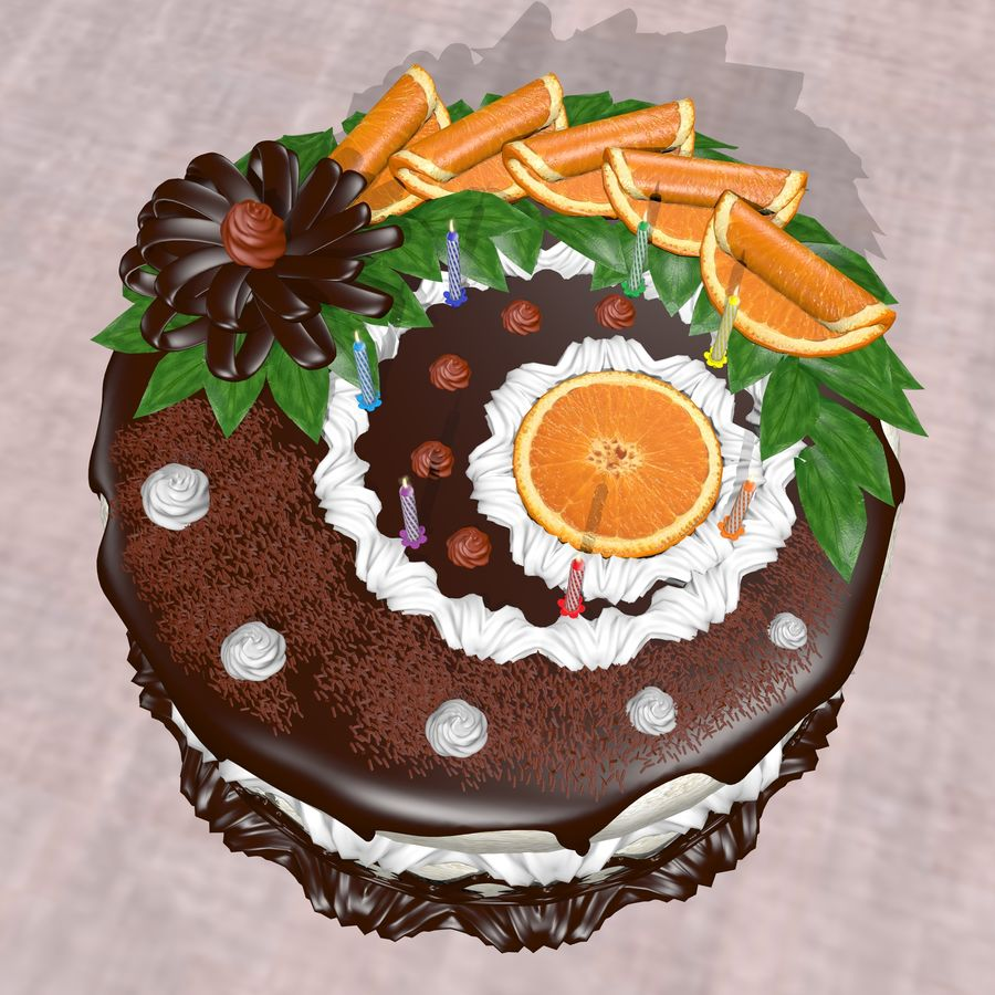 Birthday Cake With Candles 3d Model 5 Obj X Fbx Free3d