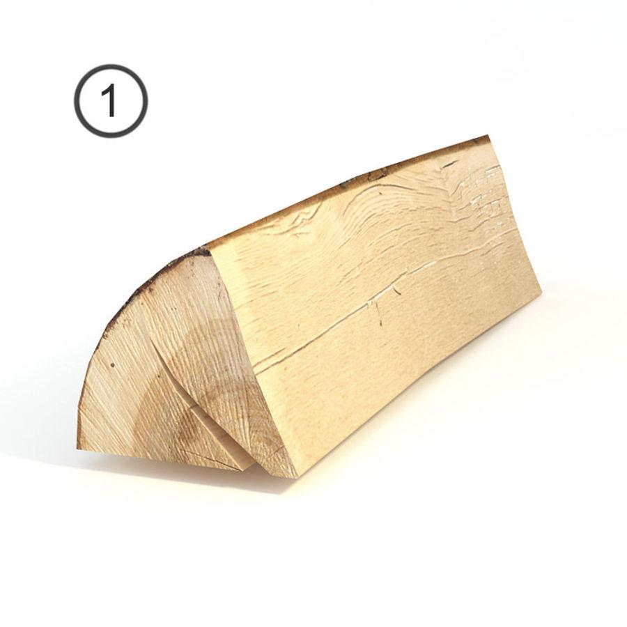 conjunto de toras de madeira royalty-free 3d model - Preview no. 3