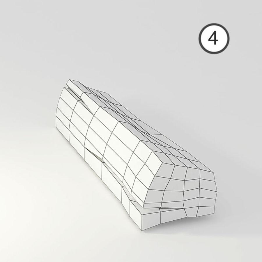 conjunto de toras de madeira royalty-free 3d model - Preview no. 12