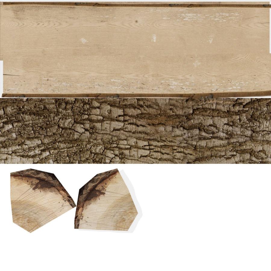 conjunto de toras de madeira royalty-free 3d model - Preview no. 27