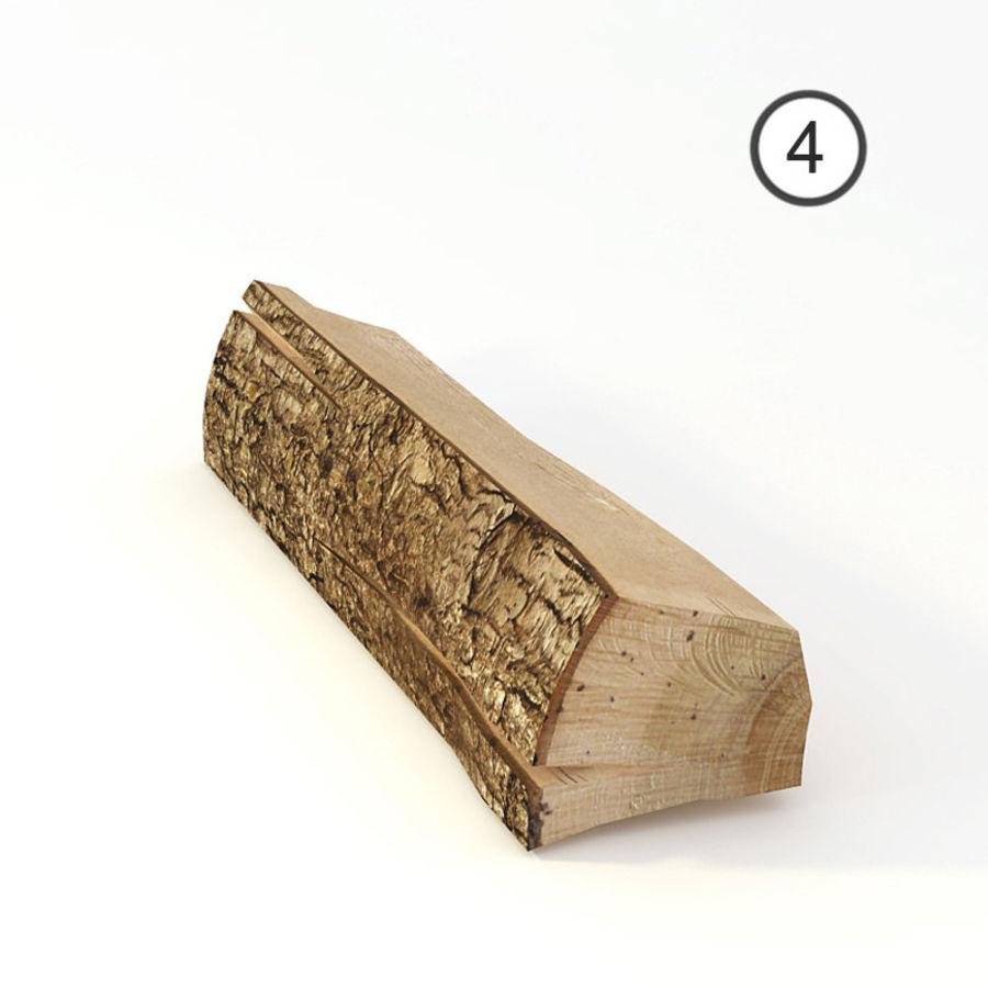 conjunto de toras de madeira royalty-free 3d model - Preview no. 11