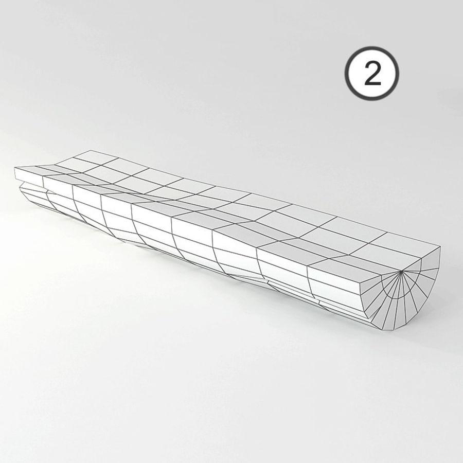 conjunto de toras de madeira royalty-free 3d model - Preview no. 8