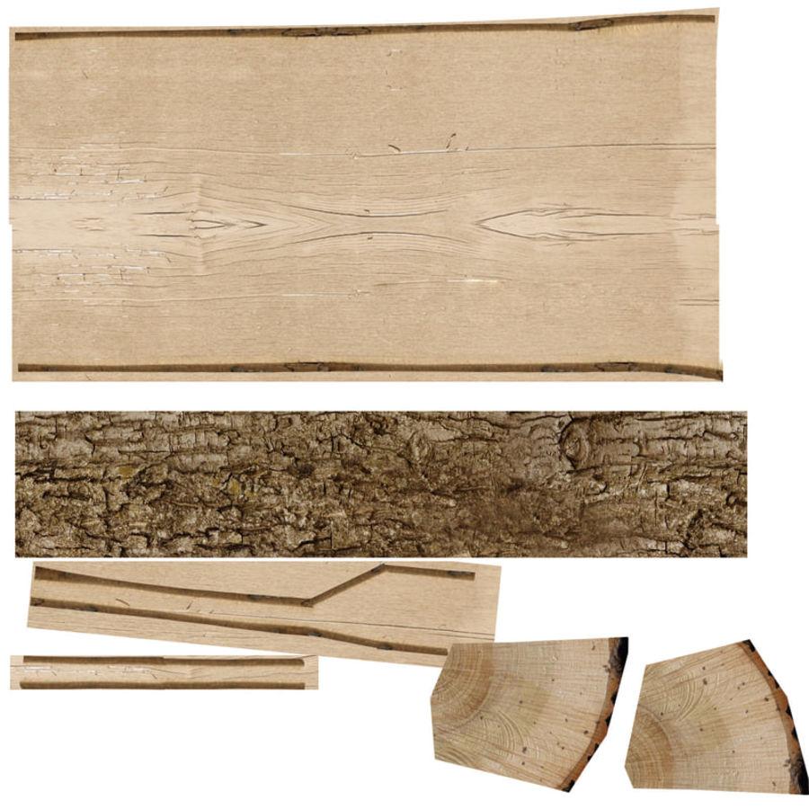 conjunto de toras de madeira royalty-free 3d model - Preview no. 28