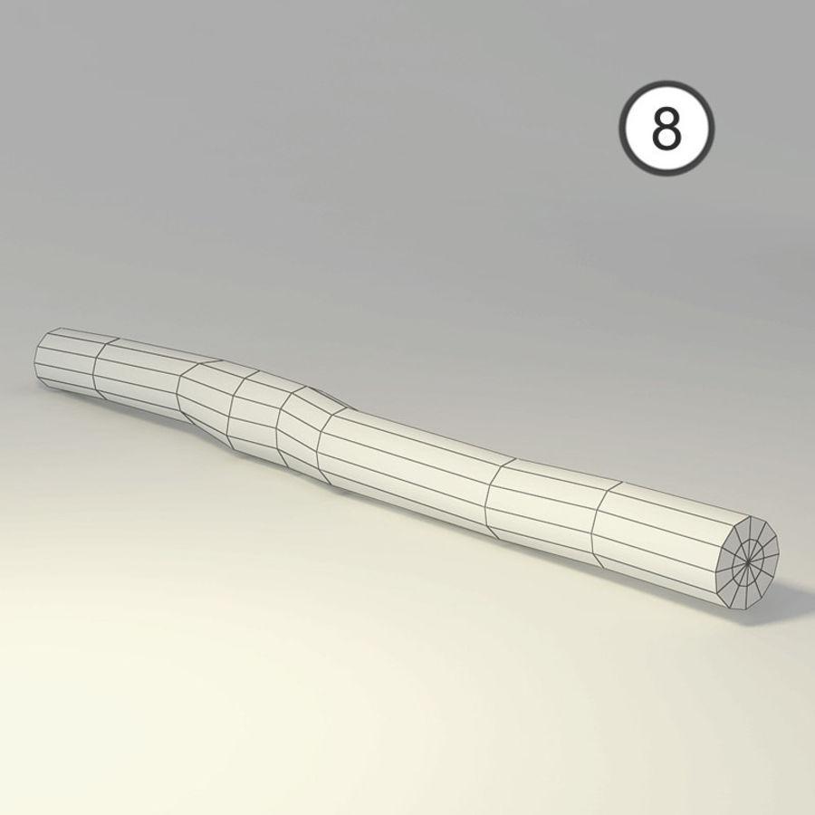 conjunto de toras de madeira royalty-free 3d model - Preview no. 20