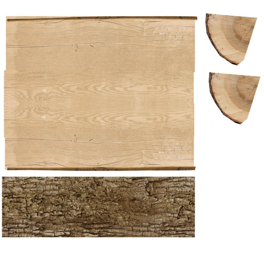 conjunto de toras de madeira royalty-free 3d model - Preview no. 25