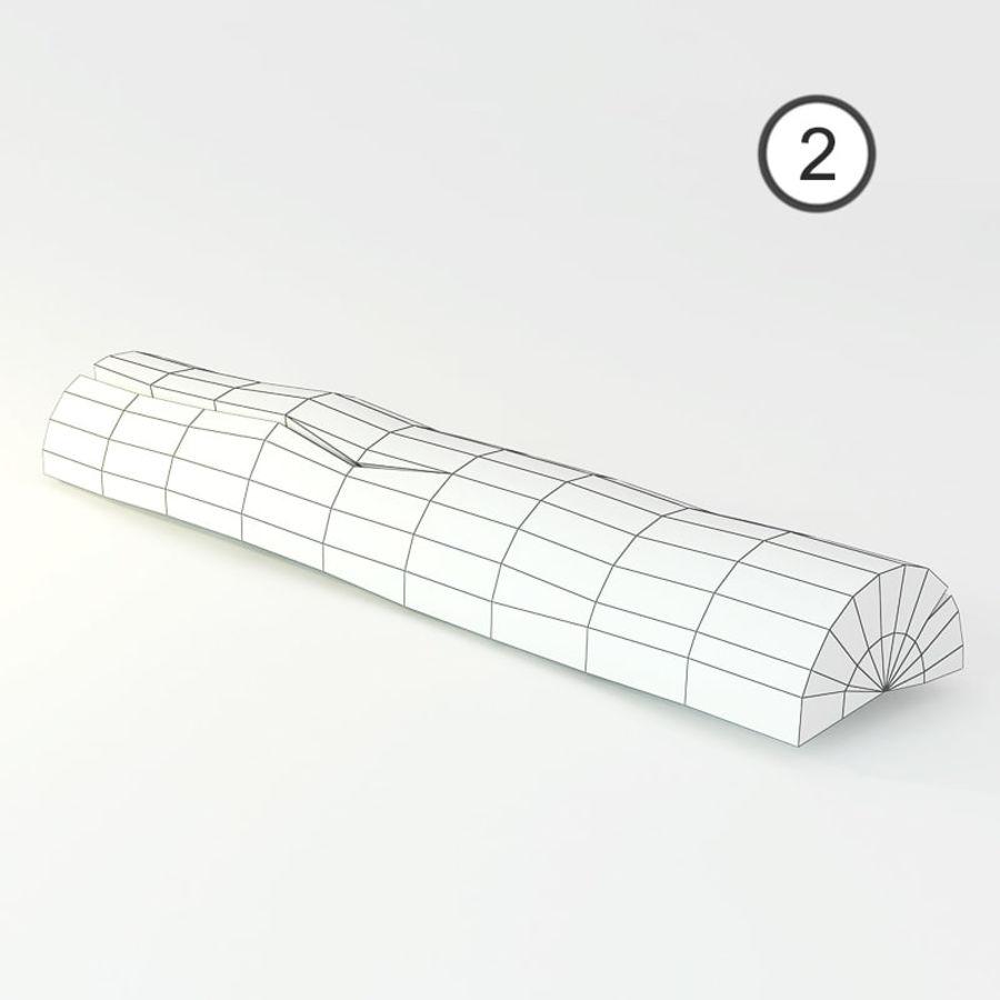 conjunto de toras de madeira royalty-free 3d model - Preview no. 6