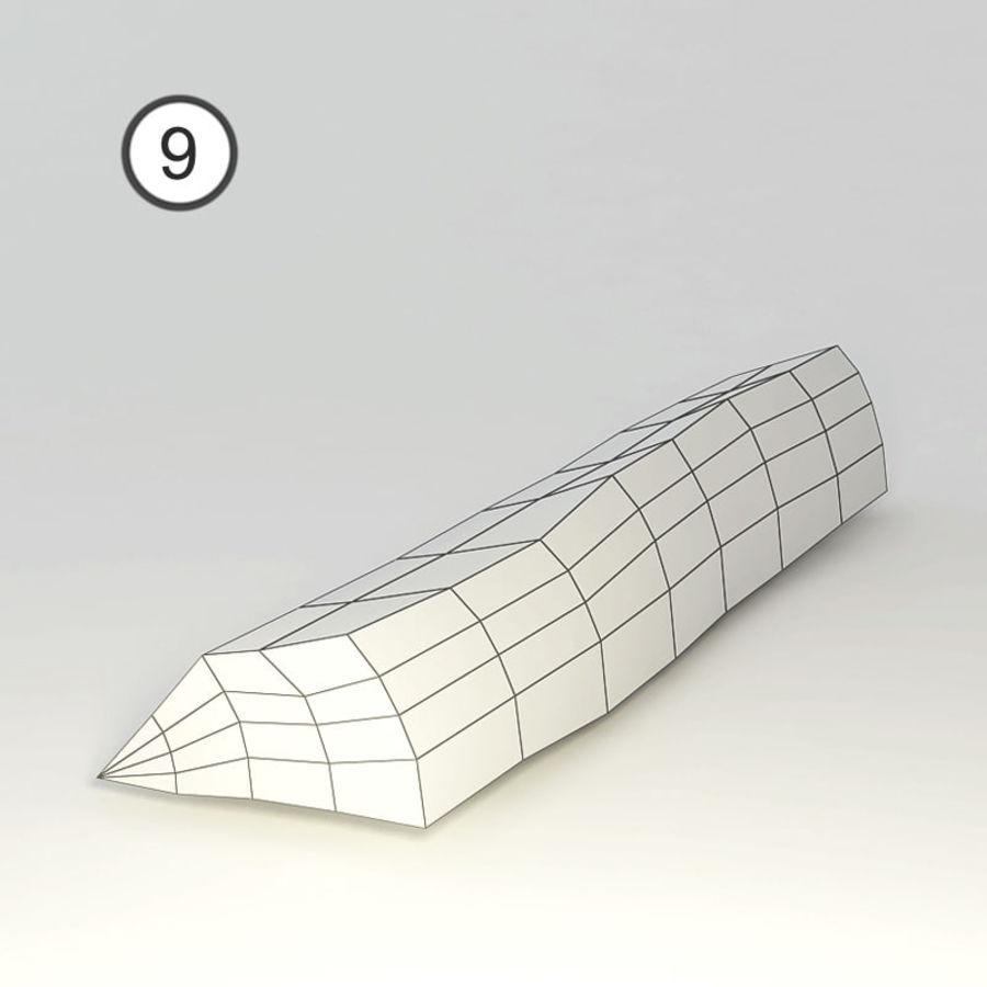conjunto de toras de madeira royalty-free 3d model - Preview no. 22