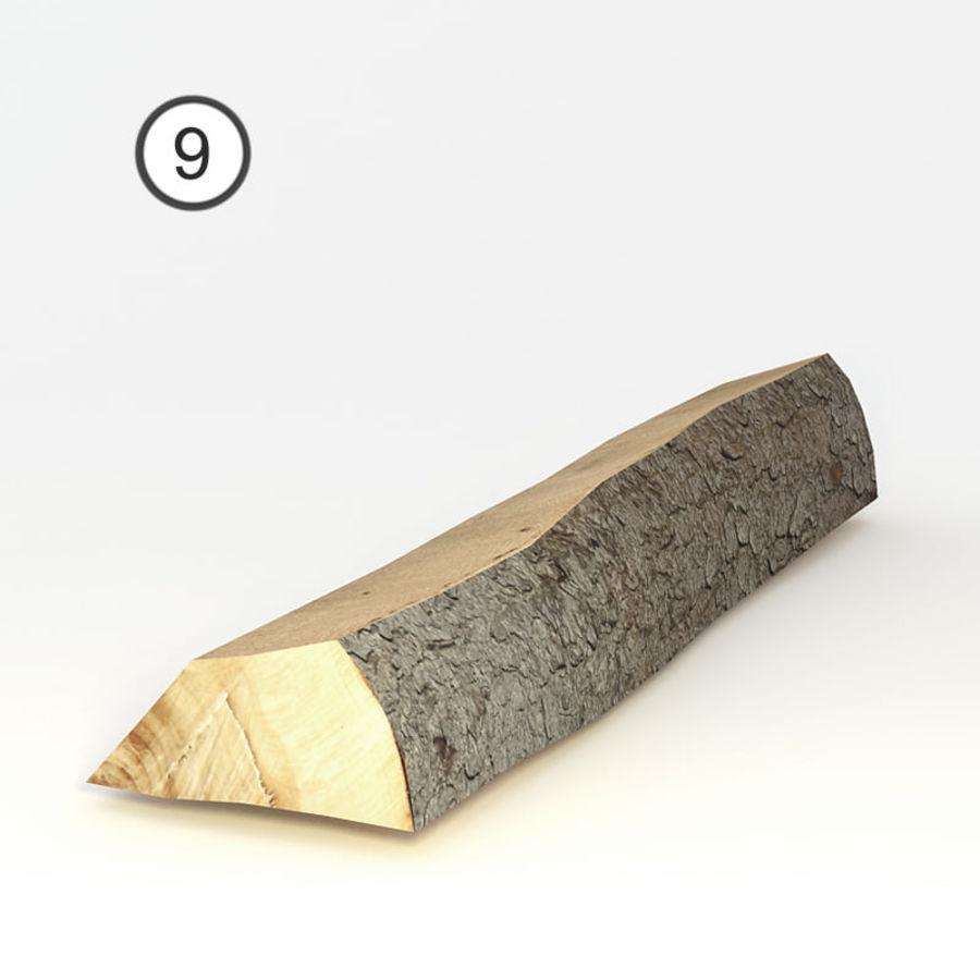 conjunto de toras de madeira royalty-free 3d model - Preview no. 21