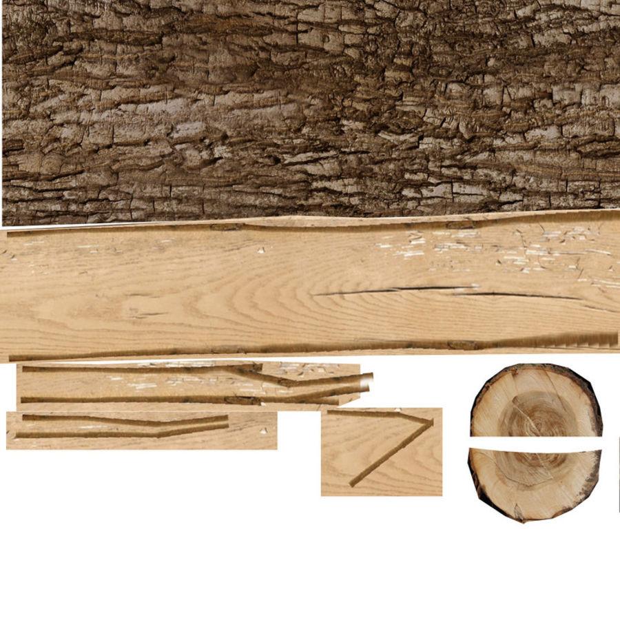 conjunto de toras de madeira royalty-free 3d model - Preview no. 26