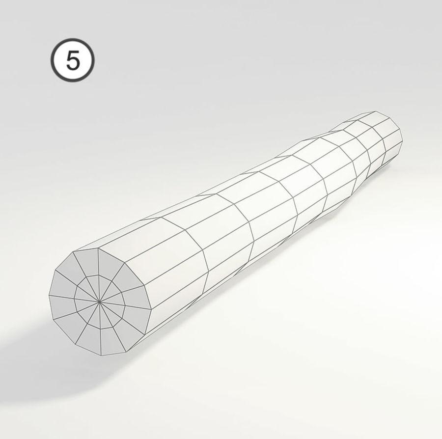 conjunto de toras de madeira royalty-free 3d model - Preview no. 14