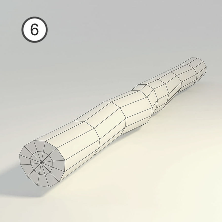 Satz von Holzstämmen royalty-free 3d model - Preview no. 16