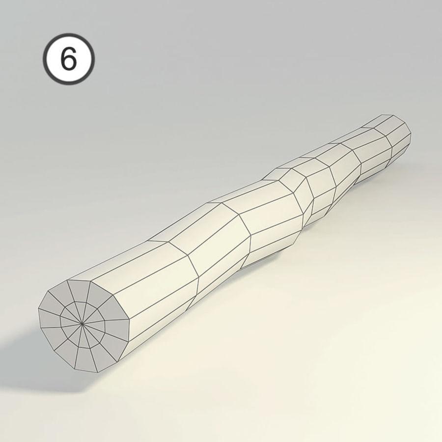 conjunto de toras de madeira royalty-free 3d model - Preview no. 16
