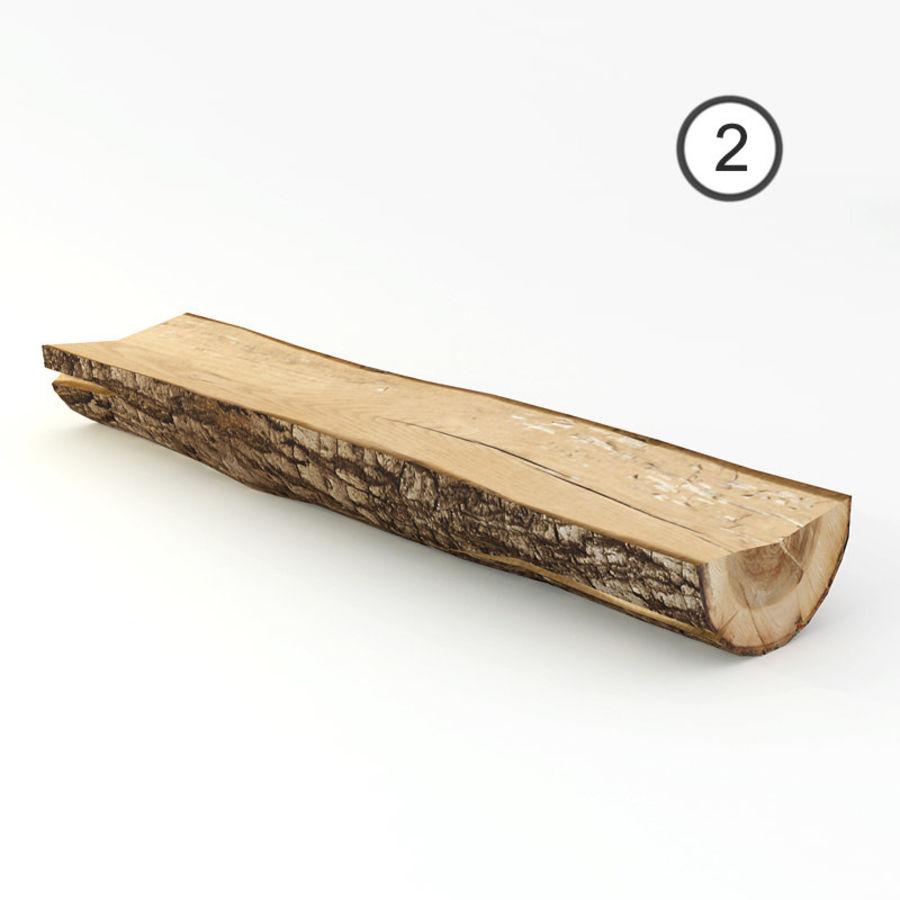 conjunto de toras de madeira royalty-free 3d model - Preview no. 7