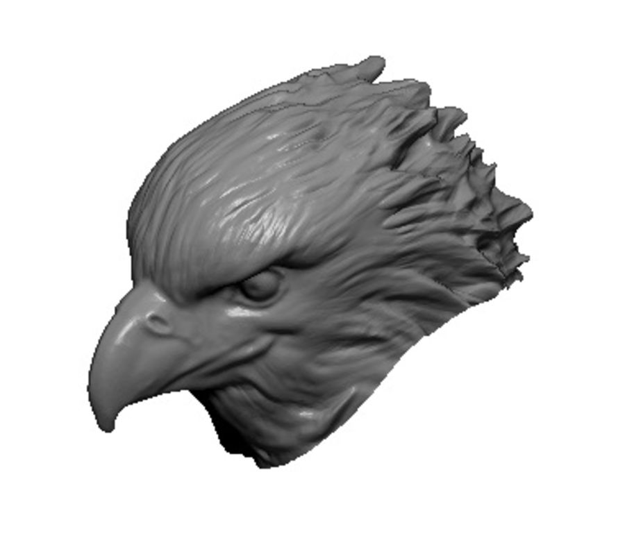 Eagle head royalty-free 3d model - Preview no. 1