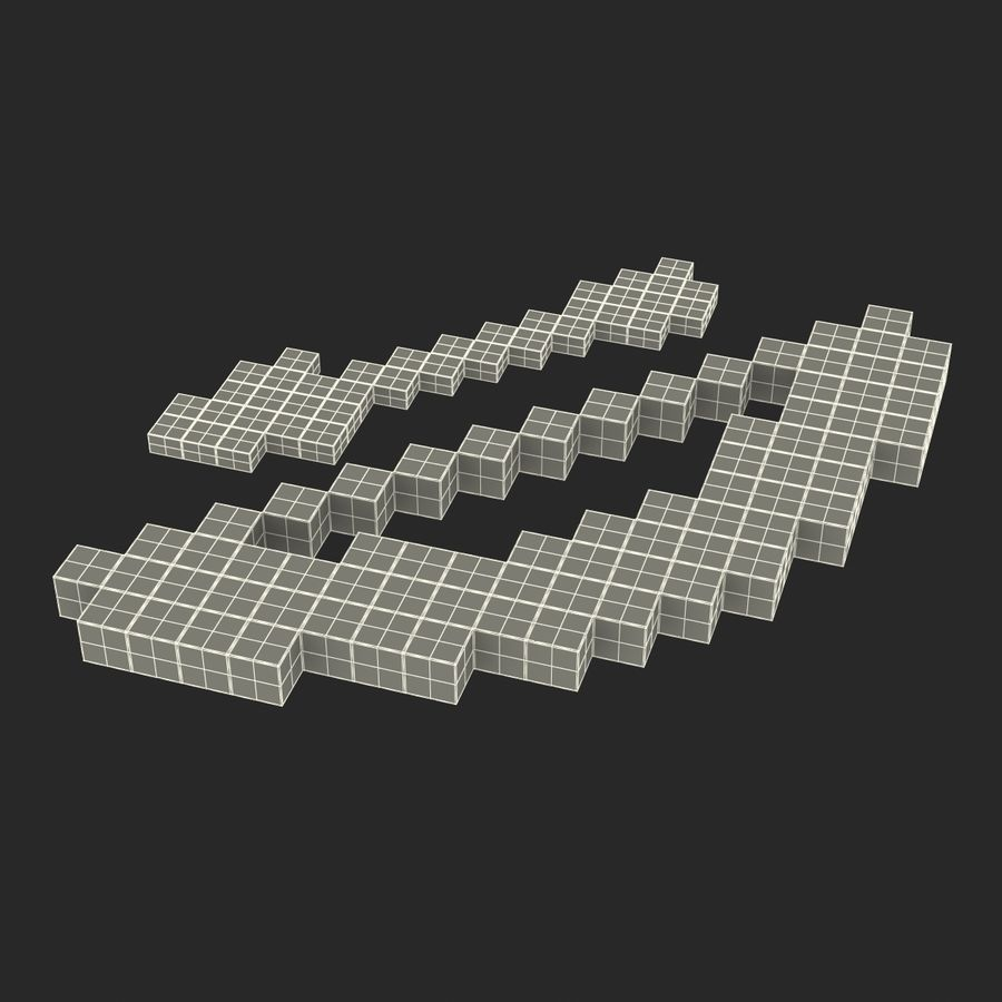 Minecraftの弓と矢 royalty-free 3d model - Preview no. 20