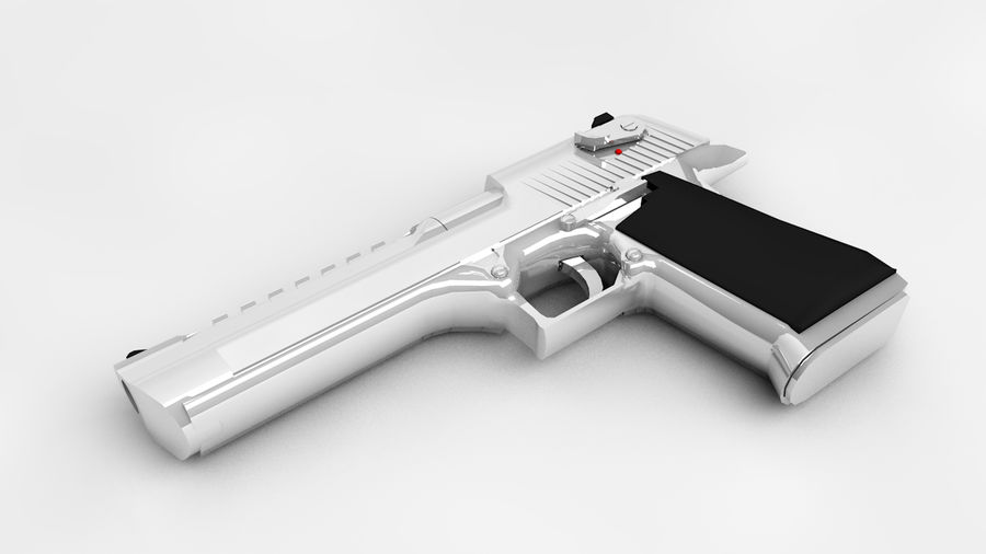 Desert Eagle royalty-free 3d model - Preview no. 4