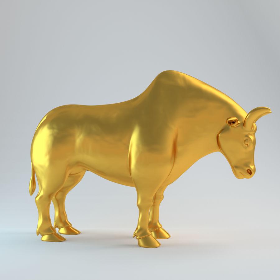 Gold Bull V1 royalty-free 3d model - Preview no. 7