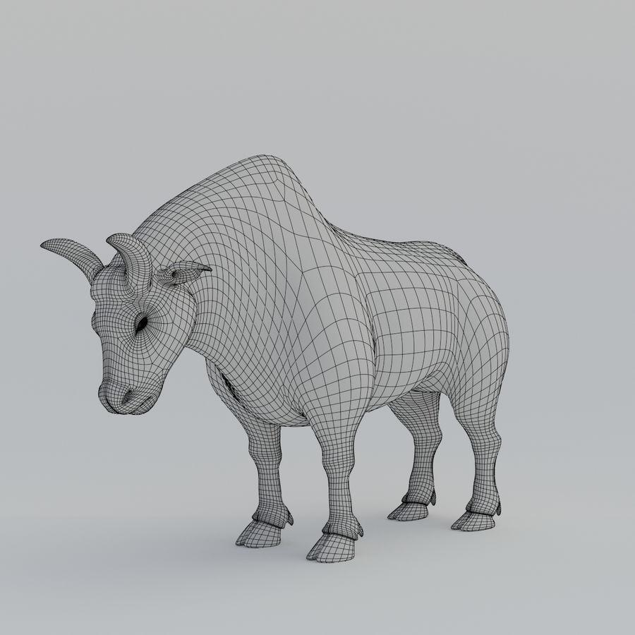Gold Bull V1 royalty-free 3d model - Preview no. 15