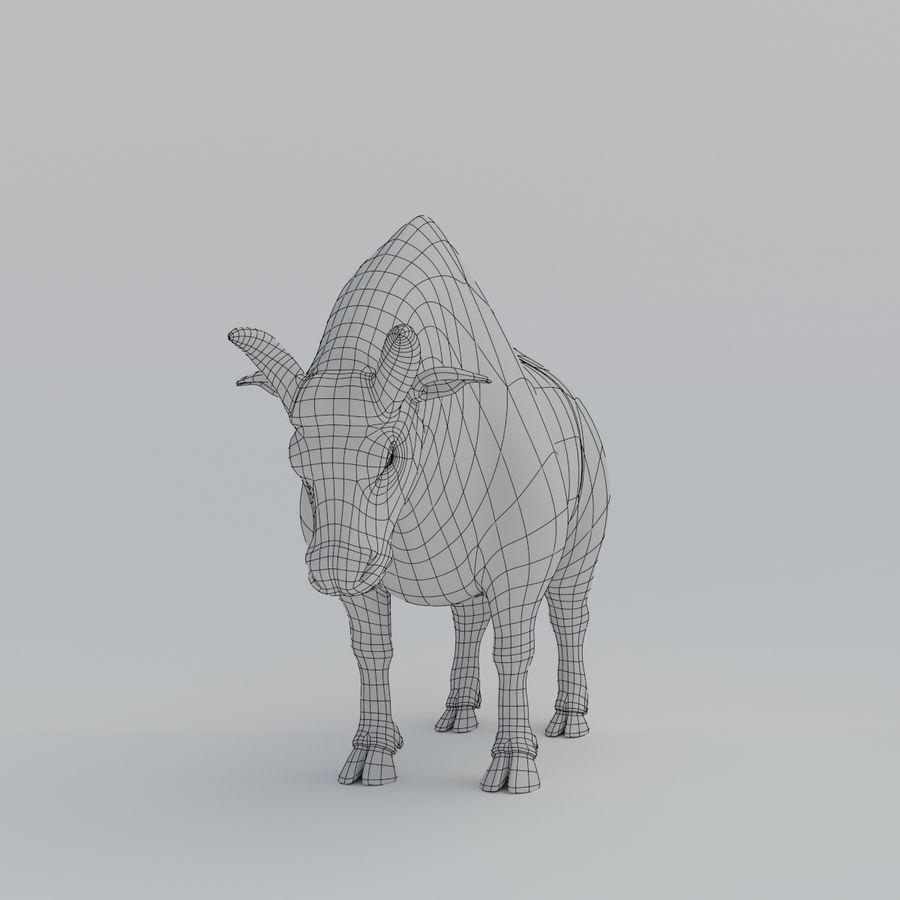 Gold Bull V1 royalty-free 3d model - Preview no. 9
